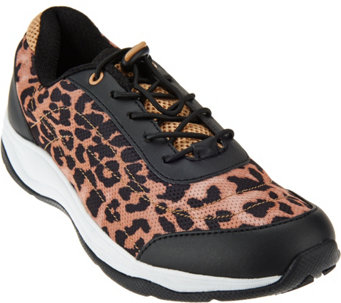 Vionic Orthotic Printed Mesh Bungee Sneakers - Neptune - A271213