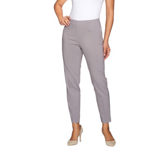 Susan Graver Uptown Stretch Side Zip Slim Leg Ankle Pants - A273513