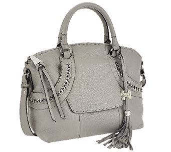 """As Is"" Aimee Kestenberg Pebbled Leather Dome Satchel - Delila - A274213"