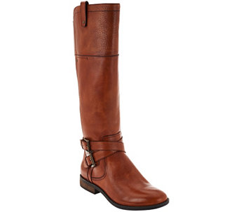 """As Is"" Marc Fisher Medium Calf Leather Riding Boots - Audrey - A278013"