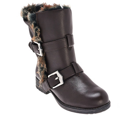"""As Is"" Aimee Kestenberg Faux Fur Lined Mid Calf Boots - Sammy Fur"