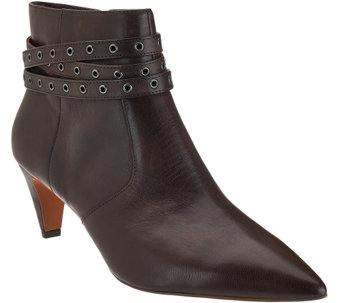 """As Is"" G.I.L.I Leather Pointed Toe Ankle Boots - Kodelle - A281013"