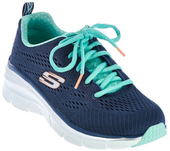 Skechers Skech-Knit Wedge Sneakers - Statement Piece - A281113