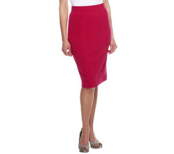"""As Is"" George Simonton Knit Slim Skirt with Seaming Detail - A281313"