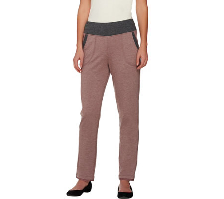 """As Is"" LOGO Lounge by Lori Goldstein Petite French Terry Pants"