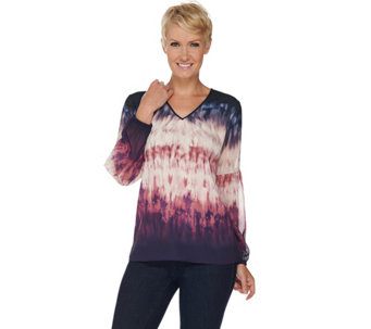 Kelly by Clinton Kelly Georgette Blouse with Poet Sleeves - A283413