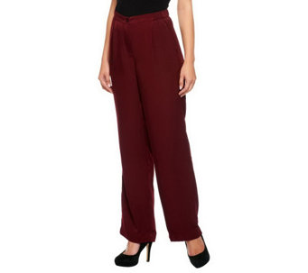 """As Is"" Linea by Louis Dell'Olio Woven Fly Front Pants w/Side Pockets - A285913"