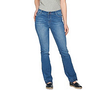 Peace Love World Regular Straight Leg Denim Jeans w/ Released Hem - A290413