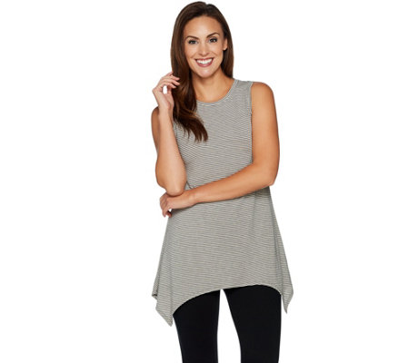 Cuddl Duds Softwear with Stretch Handkerchief Hem Tunic Tank