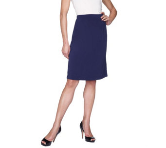 """As Is"" George Simonton Milky Knit Skirt with Seam Detail - A291513"