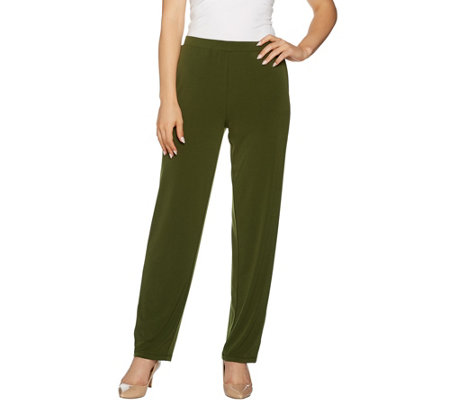 Susan Graver Liquid Knit Pants with Grommets