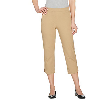 Isaac Mizrahi Live! 24/7 Stretch Pull-On Crop Pants - A292713