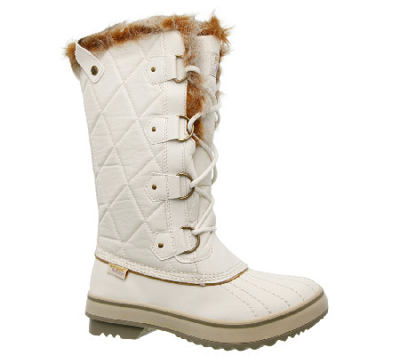 Skechers Tall Winter Boots - Highlanders - Cottontail