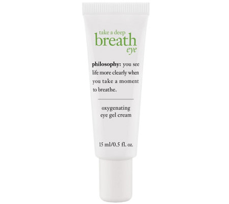 philosophy take a deep breath eye cream 0.5 oz