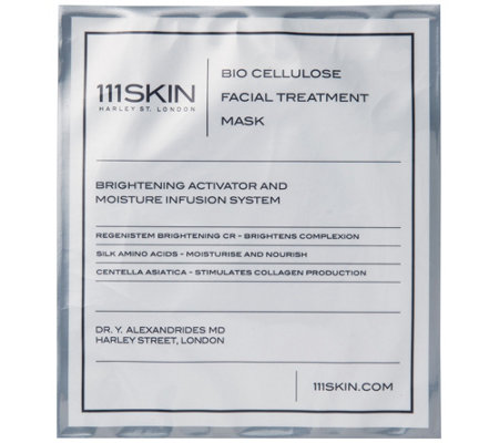 111 SKIN Bio Cellulose Facial Treatment Mask Box of 5