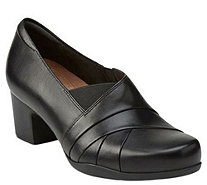 Clarks Artisan Leather Slip-on Pumps - RosalynAdele - A341213
