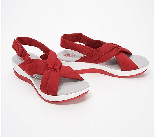 CLOUDSTEPPERS by Clarks Jersey Sport Sandals- Arla Belle - QVC.com