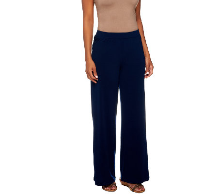 George Simonton Petite Crystal Knit Pull-on Palazzo Pants