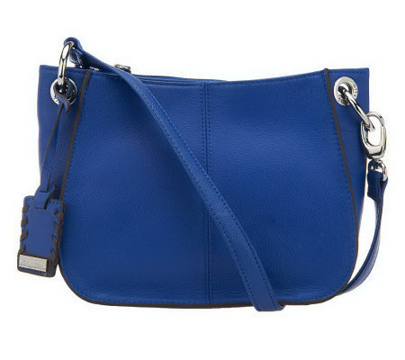 Tignanello Pebble Leather Rounded Convertible Crossbody Bag