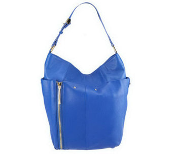 Kelsi Dagger Ayden Pebble Leather Hobo with Zipper Detail - A232814