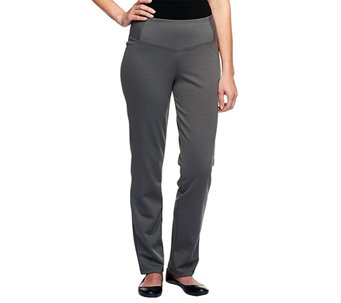 Women with Control Regular Fit Ponte di Roma Knit Pants - A238414