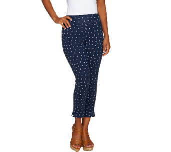 Women with Control Regular Confetti Dot Slim Leg Crop Pants - A252814