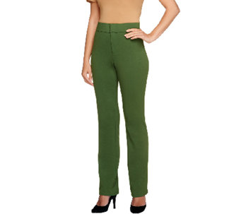Liz Claiborne New York Reg. Straight Leg Ponte Knit Pants - A255514