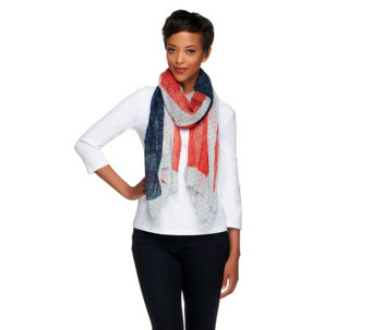 Collection 18 Floral Flag Printed Wrap - A255714