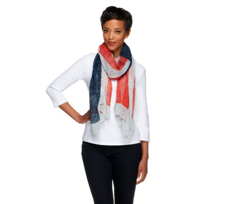 Collection 18 Floral Flag Printed Wrap