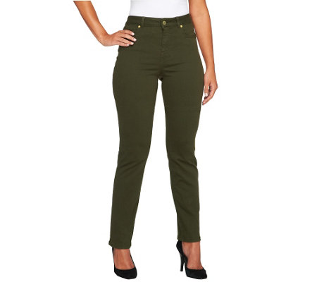 Isaac Mizrahi Live! Regular Icon Grace Straight Jeans