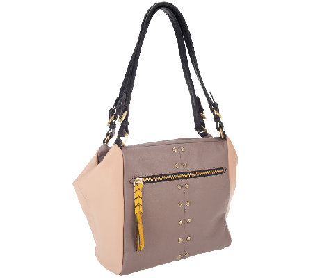80ac44ea3d42 orYANY Madison Pebble Leather Shoulder Bag - Page 1 — QVC.com