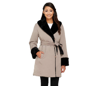 Linea by Louis Dell'Olio Faux Fur Reversible Coat - A259614