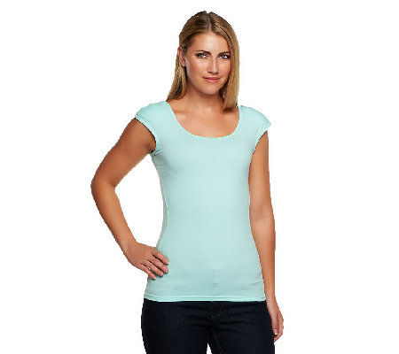 """As Is"" Kathleen Kirkwood Shoulder Padded Cami w/ Detail"