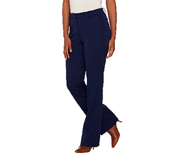 Isaac Mizrahi Live! Regular 24/7 Stretch Boot Cut Fly Front Pants - A266914