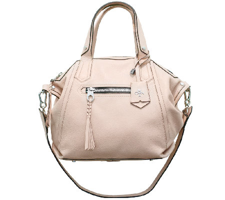 """As Is"" orYANY Sadie Italian Leather Satchel"