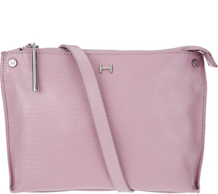 H by Halston Lizard Embossed Crossbody Handbag