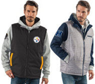 NFL 8-in1 Reversible Vest and Hoodie Combo