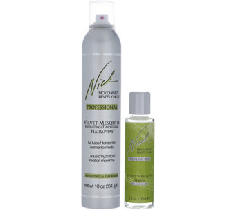 Nick Chavez Velvet Mesquite 10 oz Hairspray and 4 oz. Serum - A280914