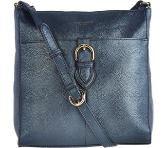 Tignanello Pebble Leather RFID Crossbody with Buckle Detail - A281114
