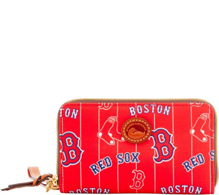 Dooney & Bourke MLB Nylon Red Sox Zip Around Phone Wristlet
