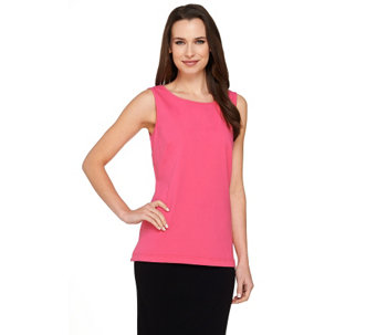 """As Is"" Linea Leisure by Louis Dell'Olio Scoop Neck Knit Tank - A281914"