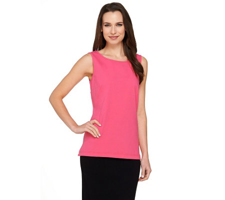 """As Is"" Linea Leisure by Louis Dell'Olio Scoop Neck Knit Tank"