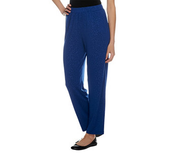 """As Is"" George Simonton Animal Embossed Knit Regular Ankle Pants - A285914"