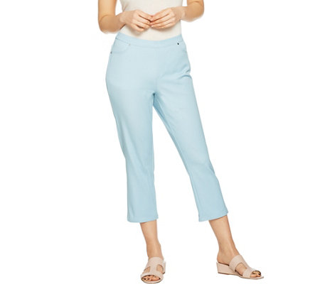 H by Halston Petite Studio Stretch Crop Pull-on Pants