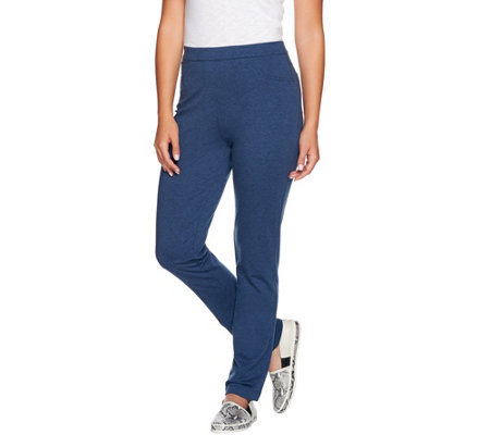 """As Is"" Susan Graver Weekend French Terry Pull-On Pants"