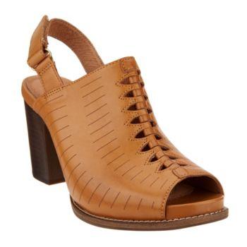 Clarks Artisan Leather Block Heel Sandals - Briatta Key
