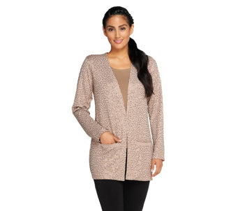 """As Is"" Joan Rivers Long Sleeve Knit Sequin Cardigan - A294114"