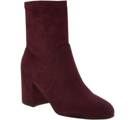 Marc Fisher Faux Suede or Crushed Velvet Ankle Boots - Ileesia