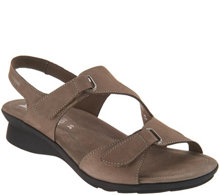 MEPHISTO Nubuck Leather Multi-Strap Wedges - Paris