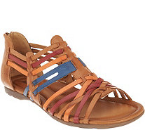 Earth Leather Multi-Strap Sandals - Bonfire - A304214